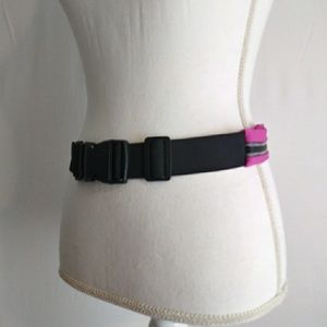 Accessories - Womens athlitic Sports pink zippered belt One Size